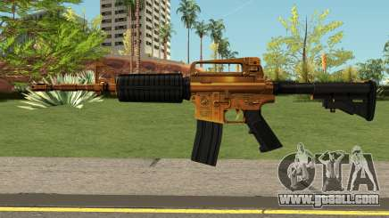 Golden M4A1 HQ for GTA San Andreas