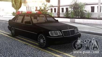Mercedes-Benz W140 Black for GTA San Andreas