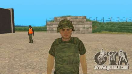 A fighter of the armed forces in camouflage Figure for GTA San Andreas