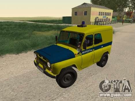 UAZ 469 Police for GTA San Andreas