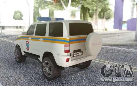 UAZ Patriot MES for GTA San Andreas back left view