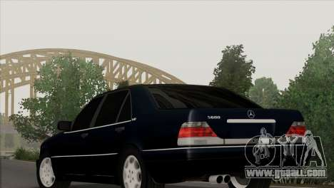 Mercedes-Benz S600 W140 Final Version for GTA San Andreas
