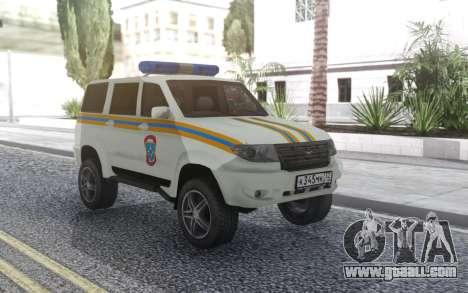 UAZ Patriot MES for GTA San Andreas back view