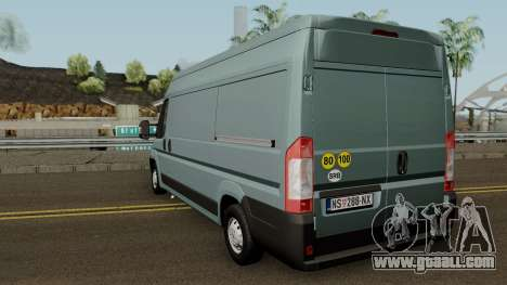 Fiat Ducato Mk3 Maxi for GTA San Andreas back left view