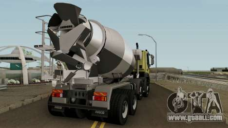 Iveco Trakker Cement 8x4 for GTA San Andreas right view