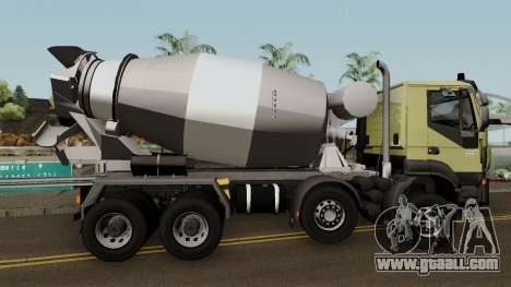 Iveco Trakker Cement 8x4 for GTA San Andreas back view