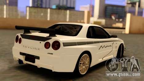 Nissan Skyline R34 Leks for GTA San Andreas