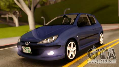 Peugeot 206 RC for GTA San Andreas