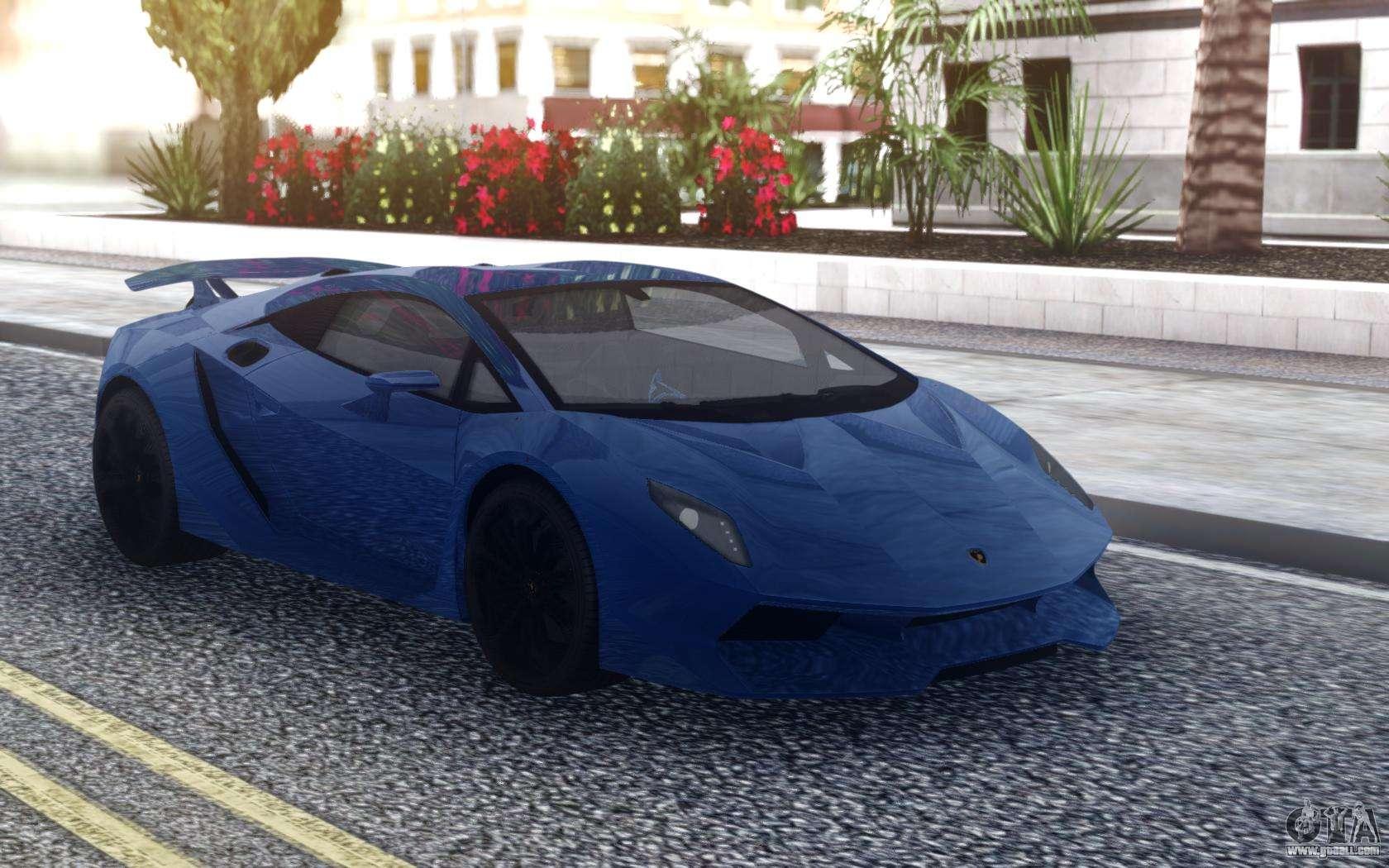 Lamborghini Sesto Elemento Blue For Gta San Andreas