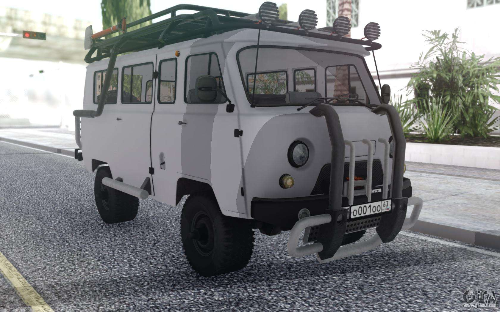Off-road tuning of UAZ loaves