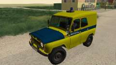 UAZ 469 Police for GTA San Andreas