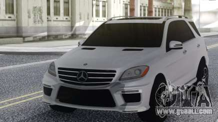Mercedes-Benz ML63 White for GTA San Andreas