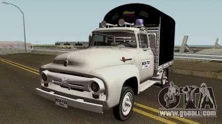 Ford F100 Con Estacas for GTA San Andreas