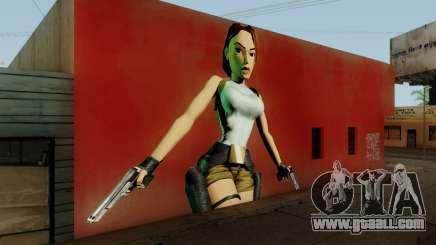Tomb Raider I Lara Mural Mod for GTA San Andreas