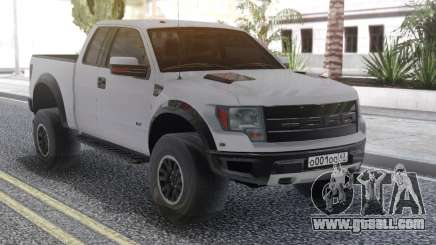 Ford Raptor White for GTA San Andreas