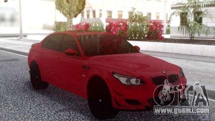 BMW M5 E60 Red Sedan for GTA San Andreas