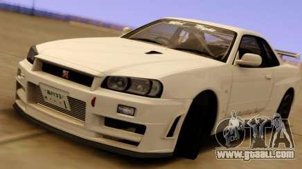 Nissan Skyline GT-R BNR34 Mid Night for GTA San Andreas