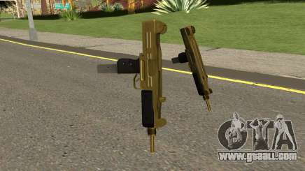 Gold UZI From GTA IV TBOGT for GTA San Andreas