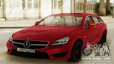 Mercedes-Benz CLS63 AMG Red for GTA San Andreas