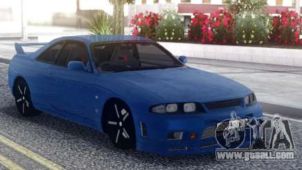 Nissan Skyline R33 Blue for GTA San Andreas