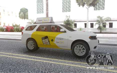 Dodge Durango SRT Yandex Taxi for GTA San Andreas left view