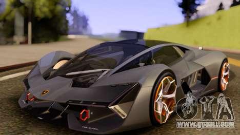 Lamborghini Terzo Millennio 2017 Concept for GTA San Andreas right view