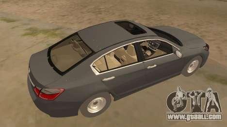 Honda Accord 2015 Standard for GTA San Andreas