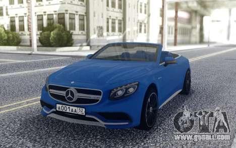 Mercedes-Benz S63 C217 for GTA San Andreas