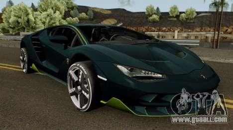 Lamborghini Centenario LP770-4 2017 for GTA San Andreas inner view