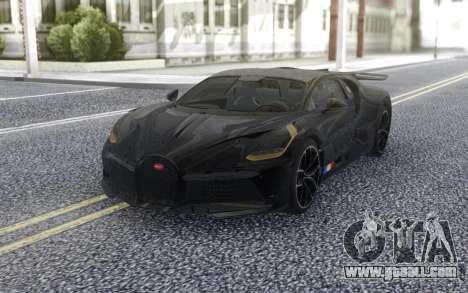 Bugatti Divo 2019 for GTA San Andreas back view