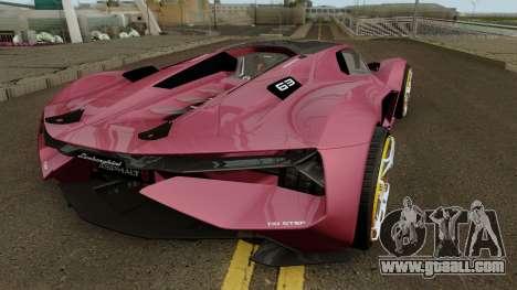 Lamborghini Terzo Millennio 2017 for GTA San Andreas right view