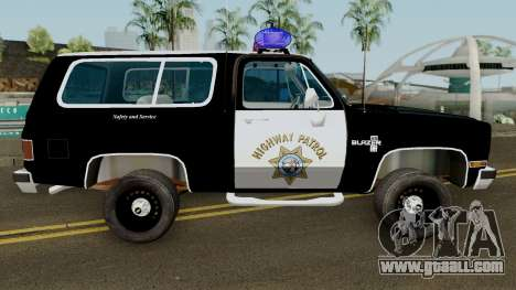 SAHP Chevrolet Blazer 1985 for GTA San Andreas
