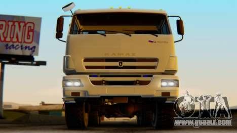 KAMAZ 43118-3049-46 CMU ANT 22-2 LPcars for GTA San Andreas