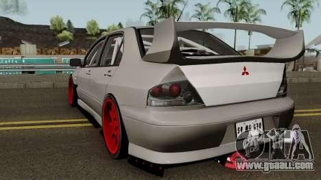 Mitsubishi Evo (DRIFT TUNING) for GTA San Andreas back left view
