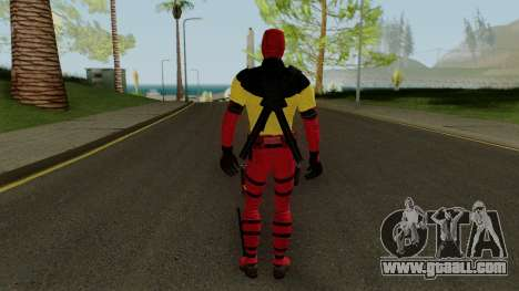 Deadpool With X-Men Shirt From Deadpool 2 for GTA San Andreas third screenshot
