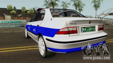 IKCO Samand Police LX v3 for GTA San Andreas back left view