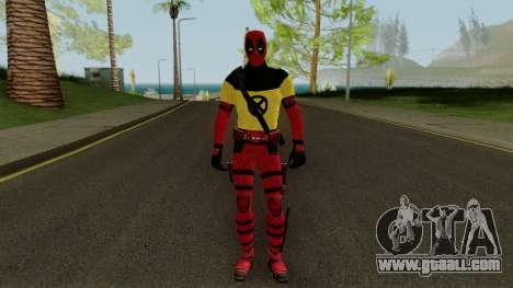 Deadpool With X-Men Shirt From Deadpool 2 for GTA San Andreas second screenshot