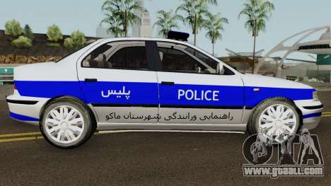 IKCO Samand Police LX v3 for GTA San Andreas back view