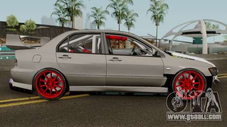 Mitsubishi Evo (DRIFT TUNING) for GTA San Andreas back view