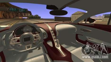 Bugatti Divo for GTA San Andreas back left view