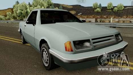 Manana Pickup for GTA San Andreas inner view