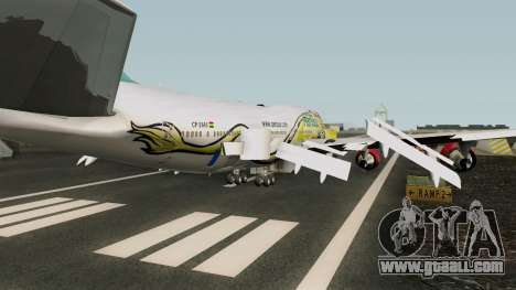 Boeing 747-400 GE CF6-80C2 for GTA San Andreas