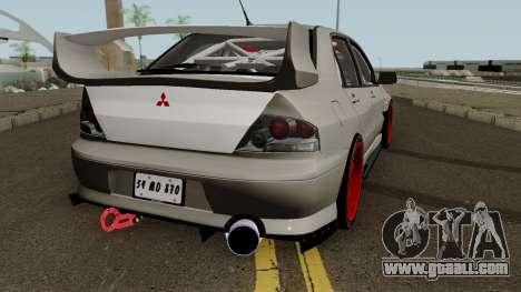 Mitsubishi Evo (DRIFT TUNING) for GTA San Andreas right view