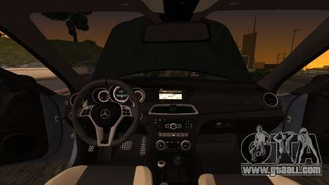 Mercedes-Benz C63 for GTA San Andreas inner view