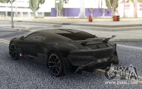 Bugatti Divo 2019 for GTA San Andreas back left view