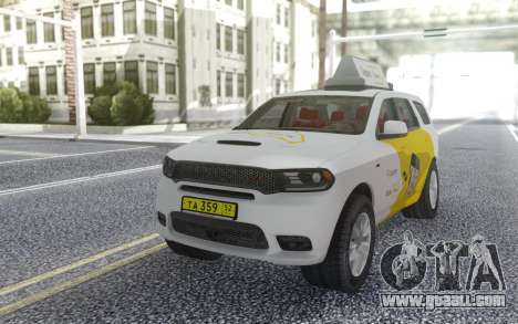 Dodge Durango SRT Yandex Taxi for GTA San Andreas back view