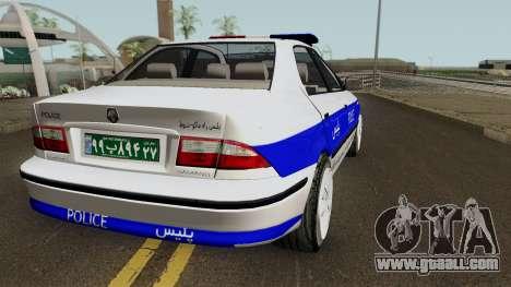 IKCO Samand Police LX v3 for GTA San Andreas right view