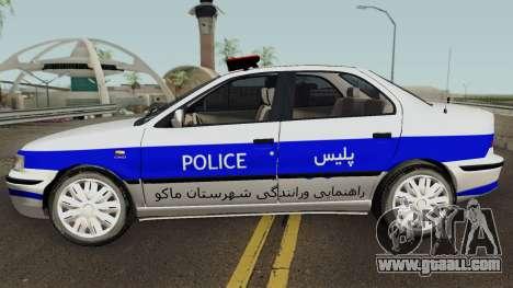 IKCO Samand Police LX v3 for GTA San Andreas left view