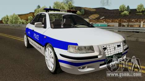 IKCO Samand Police LX v3 for GTA San Andreas inner view