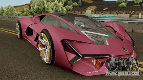 Lamborghini Terzo Millennio 2017 for GTA San Andreas inner view